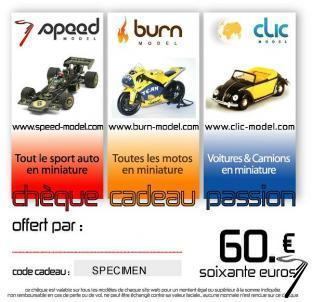 Divers Chèque cadeau 60 euros  autre