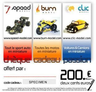 Divers Chèque cadeau 200 euros  autre