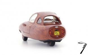 Citroen . Wood Tryane II marron - Grande Bretagne / France 1/43