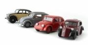 Divers . L'histoire de la voiture du peuple avec livret (NSU type 32, Mercedes W17, Tatra 570, Standard Superior) - Allemagne Tchècoslovaquie 1/43