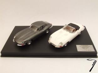 Jaguar . Coffret coupé 1961 + spyder 2011 - limité à 298 pièces 1/43