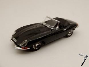 Jaguar Type E Spider Noir Cabriolet Spider Noir 1/43