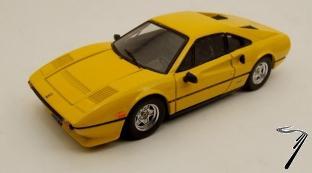 Ferrari 308 GTB Quattrovalvole jaune GTB Quattrovalvole Jaune 1/43