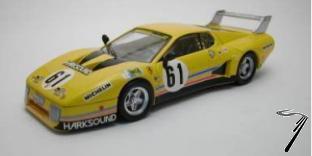 Ferrari 512 BB N°61 24H Le Mans  1/43