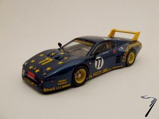 Ferrari 512 BB N°77 24H Le Mans 3°série  1/43