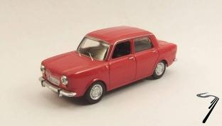Simca . Abarth rouge 1/43