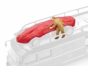 Ferrari carcover + mechanic Ferrari 156  1/43