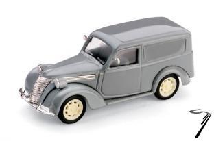 Fiat . Fourgonnette Grise 1/43