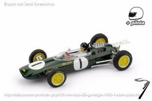 Lotus 25 1er GP Belgique - Champion du monde - avec pilote  1/43