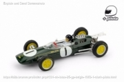 Lotus 25 1st Belgium GP - world champion - with pilot  1/43