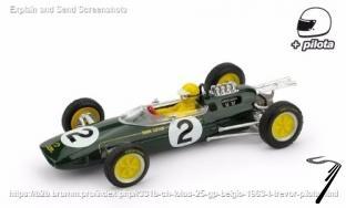 Lotus 25 2ème GP Belgique - avec pilote  1/43