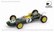 Lotus 25 2nd Belgium GP - with pilot  1/43