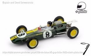 Lotus 25 1er GP Italie - avec pilote  1/43