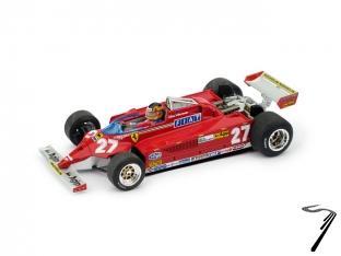 Ferrari 126 CK Turbo 1er GP Monaco avec pilote  1/43