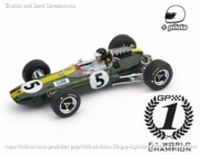 Lotus 33 1st Great Britain GP - world champion - with pilot  1/43