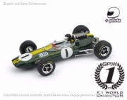 Lotus 33 1st Germany GP - world champion - with pilote  1/43