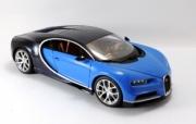 Bugatti Chiron blue blue 1/18