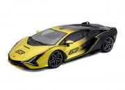 Lamborghini Sian Hybride jaune Hybride jaune 1/18