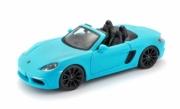Porsche 718 Boxter cabriolet bleu Boxter cabriolet bleu 1/24