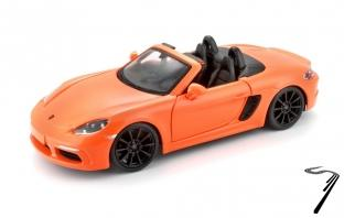 Porsche 718 Booxter cabriolet orange Boxter cabriolet orange 1/24