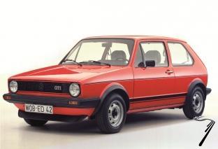 Volkswagen . MKI GTI rouge 1/24