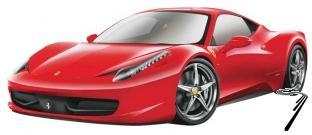Ferrari 458 Italia rouge Italia rouge 1/24
