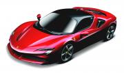 Ferrari SF 90 Rouge et noire Rouge et  noire 1/24