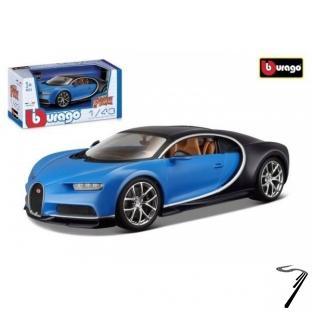 Bugatti Chiron bleu bleu 1/43