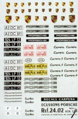 Porsche Ecusson + Logos divers Ecusson + Logos divers 1/24