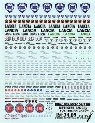 Divers Ecussons divers voitures italiennes Ecussons divers voitures italiennes 1/24