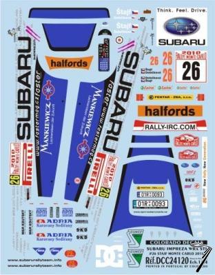 Subaru Impreza WRX STI - #26 Stajf Monte Carlo  1/24