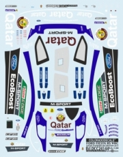 Ford Fiesta RS Rallye du Quatar + 5 drivers from Rally of Portugal  1/24