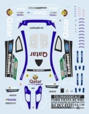 Ford Fiesta RS Rallye du Quatar + 5 pilotes du Rallye du Portugal  1/43