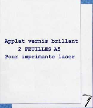 Divers Applat vernis brillant 2 feuilles A5 Applat vernis brillant 2 feuilles A5 autre