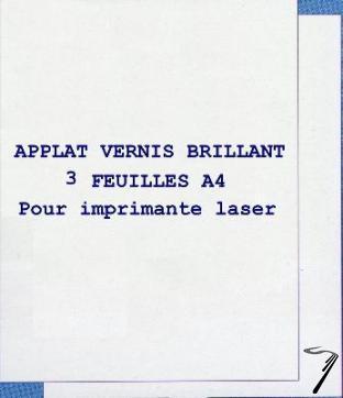 Divers Applat vernis brillant 3 feuilles A4 Applat vernis brillant 3 feuilles A4 autre