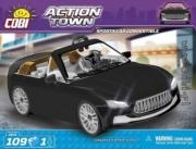 Divers . Voiture de Sport cabriolet noire - 109 pièces - 1 figurine autre