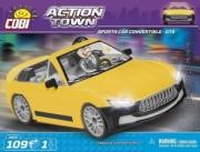 Divers . Voiture de sport cabriolet jaune - 109 pièces - 1 figurine autre