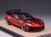 Chevrolet Corvette Darwin Pro BlackSails Widebody rouge foncé - version détaillée Darwin Pro BlackSails Widebody rouge foncé - version détaillée 1/43