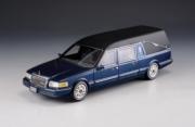 Lincoln . véhicule funéraire bleu métallisé 1/43