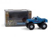 Chevrolet . K-10 monster pneus 167 cm (exterminator) *kings of crunch series 3*, bleu 1/43
