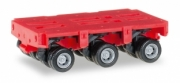 Divers . truck trailer THP-SL 3 axles red 1/87