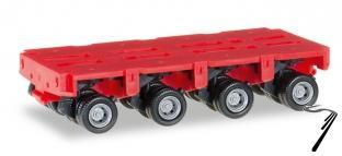 Divers . remorque pour camion THP-SL 4 essieux rouge 1/87