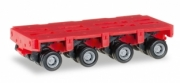 Divers . truck trailer THP-SL 4 axles red 1/87