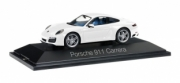 Porsche 911 Carrera coupé blanc métallisé Carrera coupé blanc métallisé 1/43