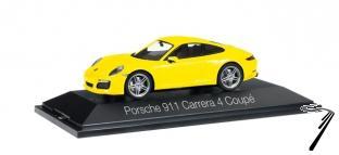 Porsche 911 Carrera 4 coupé jaune racing Carrera 4 coupé jaune racing 1/43