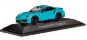 Porsche 911 Turbo S, Miami blue Turbo S Miami blue 1/43