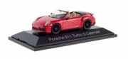 Porsche 911 Turbo S Cabriolet, rouge/red Turbo S Cabriolet rouge/red 1/43