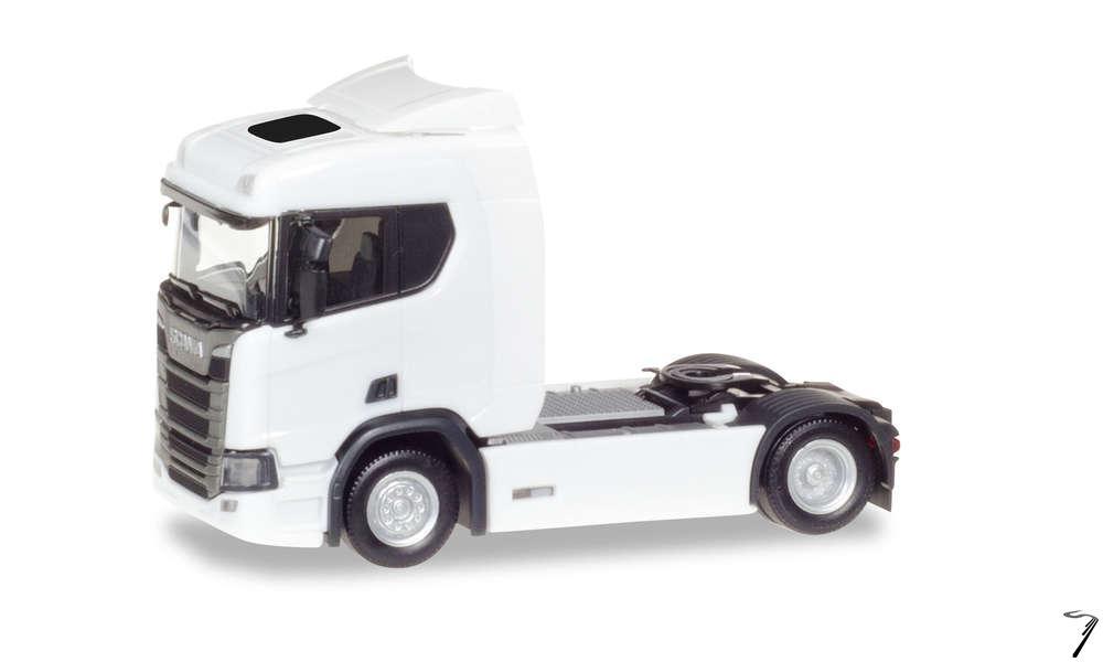 Scania . 20 ND blanc 1/87