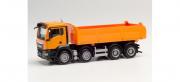 Man . TGS NN tipper truck, municipal orange 1/87