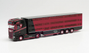 "Scania . CS 20 HD Viehtransporter-Sattelzug ""Hachmeister""  1/87"
